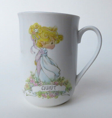 Enesco Precious Moments 1990 Coffee Tea Mug Cup Gift for Aunt