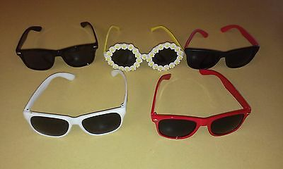 Assorted Lot Of Used Cheap Sunglasses (5) Pairs