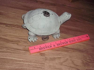 Vintage Collectible turtle Lawn Art  Sprinkler Old collectible cement filled
