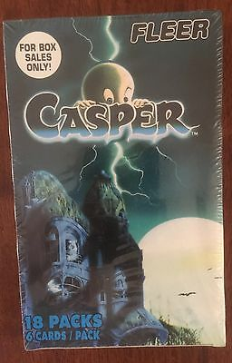 Casper - Sealed Box Of1996 Fleer Casper Trading Cards-18 Packs In Box