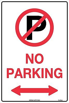 No Parking Directional Double Arrow Traffic Safety Sign 450x300mm Metal