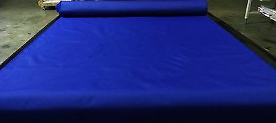 "Royal Blue Bimini Top Boat Cover Uv Outdoor Coated Marine Canvas Fabric Dwr 60""w"
