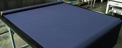 "Navy Blue Bimini Top Boat Cover Uv Outdoor Coated Marine Canvas Fabric Dwr 60""w"