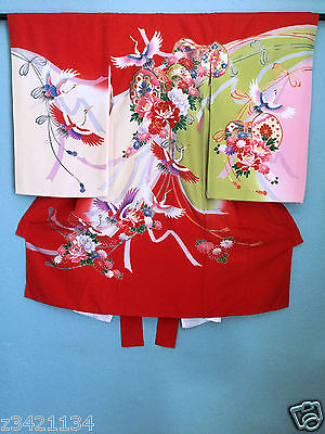 (80% NEW) 2 Kimonos one set Japanese Vintage Kimono.  Hang it up or wear it on.