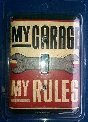 Open Roads- My Garage Rules/ Light Switch Cover/ Plate