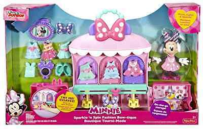 Playset Fisher Price Disney Minnie Mouse Sparkle and Spin Fashion Bow TiqueToys
