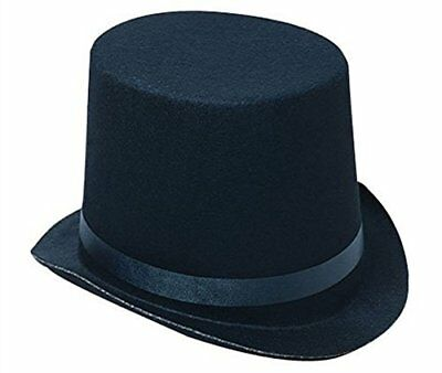 Deluxe Black Magician Butler Formal Costume Top Hat New