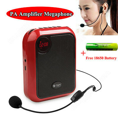 T200 Loud Voice Booster AMP Speaker Amplifier with Headset Portable Microphone