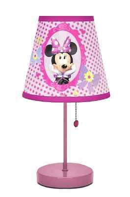 Minnie Mouse Bow Tique Table Lamp Disney New Girls Room Decor Kid Light Gift Toy