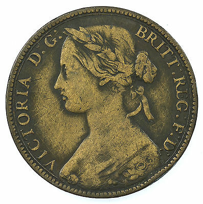 Great Britain, Victoria Penny, Cleaned, 1860