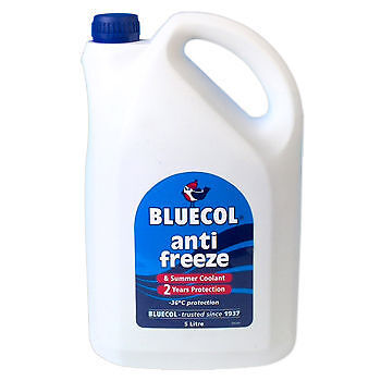 Bluecol Antifreeze & Summer Coolant 5L 2 Year Protection For Vehicle 5 litre