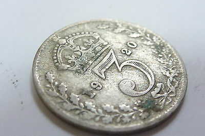 1920 George V 3d Silver Threepence (ref 6)
