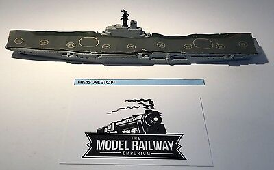 Vintage Triang Minic Ships - M752 - Hms Albion Commando Aircraft Carrier V.rare