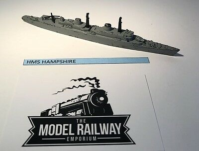 Vintage Triang Minic Ships - M783 - Hms Hampshire - Rare Unboxed Diecast