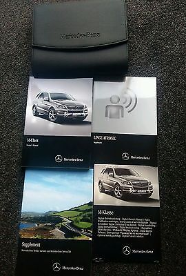 Mercedes Benz M Class W166 Ml Owners Manual Handbook & Wallet 2012-2015 Amg Cdi