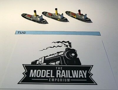 Vintage Triang Minic Ships - M731 - Tug Boat X 3 - Rare Unboxed Diecast
