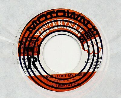 """TEMPTATIONS - Since I lost my baby ❤ MOTOWN CLASSIC VINYL ❤ 7"""" 45rpm"""