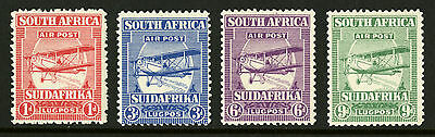 South Africa  1925  Scott #  C1-C4  Mint Very Lightly Hinged Set