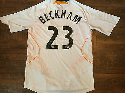 2007 2008 LA Galaxy Beckham Adults Medium Football Shirt Los Angeles Top Jersey