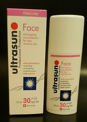 Ultrasun Face SPF 30 Anti Ageing Sun Cream Protection Sensitive Skin 50ml