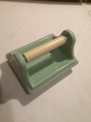 Antique Green Porcelain Bathroom Toilet Paper Holder Bath Accessory