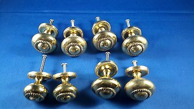 Vintage brass drawer pulls lot of 8