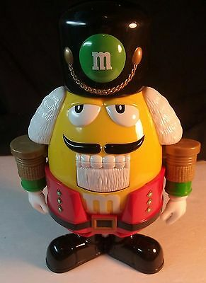 M&Ms Nutcracker Sweet Chocolate Candy Dispenser- Yellow w/ Red Pants