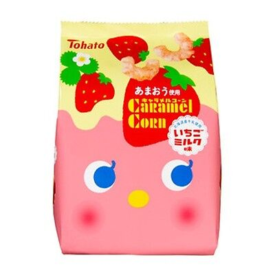 "Tohato ""Caramel Corn"" Strawberry Milk Flavor, Japanese Candy, S11"