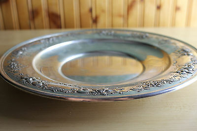 """♔♔♔ 10"""" Chantilly Floral by Gorham Sterling 925 Silver Sandwich Platter Tray NM"""