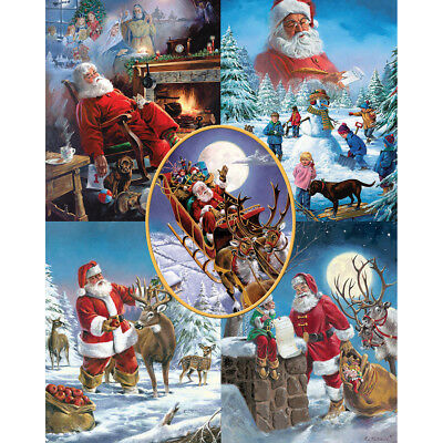 "Jigsaw Puzzle 1000 Pieces 24""X30"" Santa's Big Night WM929"