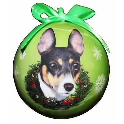 Rat Terrier Shatterproof Ball Dog Christmas Ornament