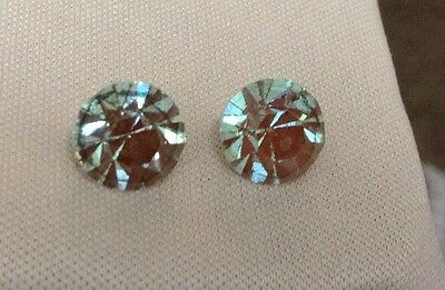 Vintage 8 1/2 mm Faceted Saphiret Stones (two included In order)