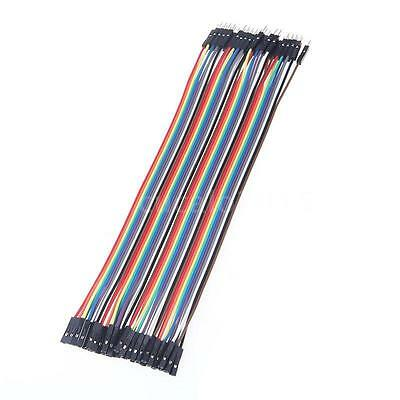 40Pcs 20cm Male to Female Color Breadboard Jumper Cable Dupont Wire Arduino Ribb