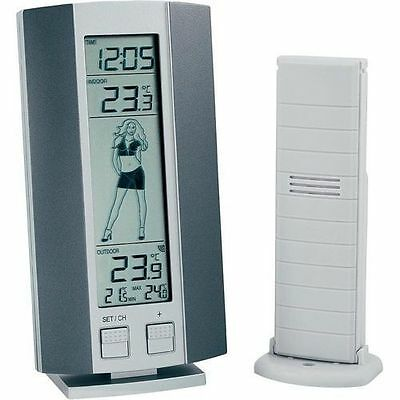 Nauticalia Digital Weather Girl Station Thermometer with LCD Screen