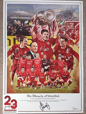 New Liverpool Limited Edition Jamie Carragher Signed Istanbul Squad Montage
