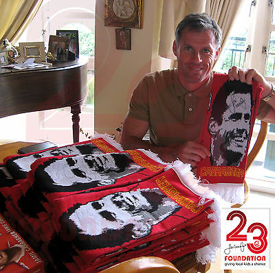 New Liverpool All Star Match Scarf Signed By Jamie, Carragher V Gerrard