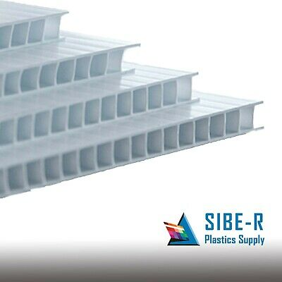 """(2 Pack) 4mm White 18"""" x 12"""" Corrugated Plastic Coroplast Sheets Sign Vertical"""