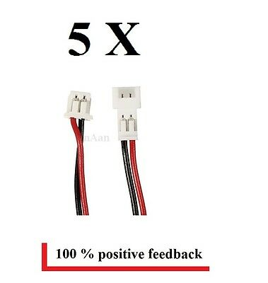 5 Pairs Micro JST 1.25mm 2-Pin 100mm Male&Female Connector Plug Pre-wired Cables