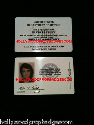 "Elvis Presley ""DEA"" Id Card Presented to Him By President Nixon In 1970 NEW"