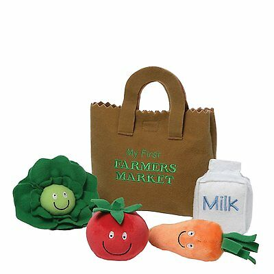 GUND My First Farmer's Market, Stuffed Vegetables Baby Play Set