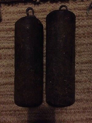 Two antique weights for a long case / Grandfather Clock