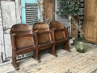 Beautiful Vintage French Fold down Cinema Seats