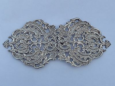 Huge Antique 1898 Solid Hallmarked Silver Nurses Belt Buckle by George Unite 98g