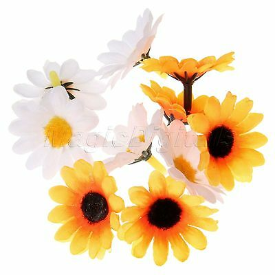 50/100PC Artificial Gerbera Daisy Flower Heads for Wedding Party Decor Craft DIY