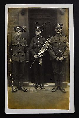 WW1 Postcard RP The Gloucestershire Regiment Soldiers Rifle Fixed Bayonet