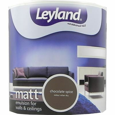 Leyland Matt Emulsion Paint For Walls & Ceilings Paint 2.5L Chocolate Spice