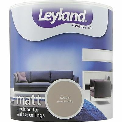 Leyland Matt Emulsion Paint For Walls & Ceilings Paint 2.5L Cocoa