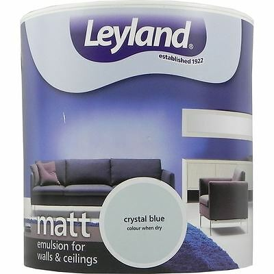 Leyland Matt Emulsion Paint For Walls & Ceilings Paint 2.5L Crystal Blue