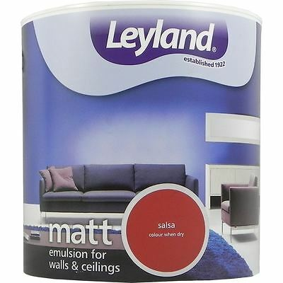 Leyland Matt Emulsion Paint For Walls & Ceilings Paint 2.5L Salsa