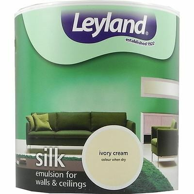 Leyland Silk Emulsion Paint For Walls & Ceilings 2.5L Ivory Cream